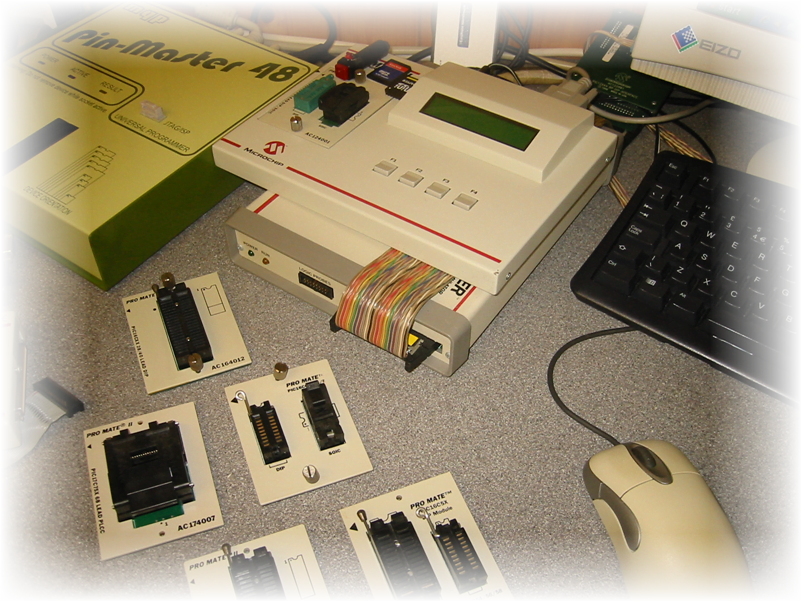Microchip Promate II Professional Programmer With A Range Of Programming Plates