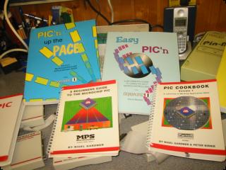My PIC Design & Development Books, Hours of Deep Reading!